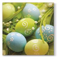Szalvéta  TaT 33x33cm Spring Eggs