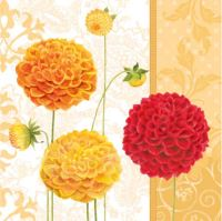 Papírszalvéta PAW L 33X33cm floral autumn orange