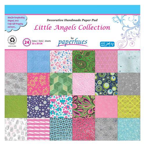 Dekor papír  - 24 lapos, 30x30 cm - Little Angels Collection