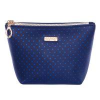 Kozmetická taška Blue Triangles - hranatá