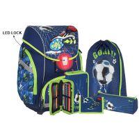 Školská taška - 6-dielny set, PRO LIGHT PREMIUM 3D Football Goal, LED
