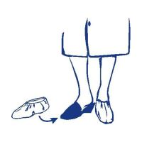 Cipővédő fólia kék 40 x 14 cm (CPE) [100 db]