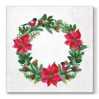 Szalvéta  PAW L 33x33cm Xmas Wreath