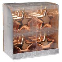 Karácsonyfadísz - PP réz csillag 15 cm, 1db