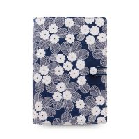 Diár Filofax Impressions Flowers - modro biely, osobný