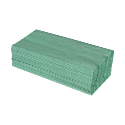 ZZ hajtogatott tisztítókendő, 25x23 cm, zöld (5000 db)