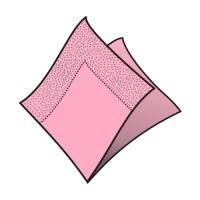 Obrúsky 2-vrstvé 33 x 33 cm ružové 50 ks
