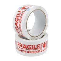 csomagolószalag 48 mm x 66 m - Fragile/Törékeny felírattal