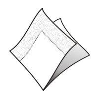 Obrúsky 2-vrstvé 24 x 24 cm biele 250 ks