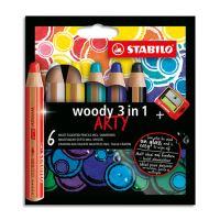 Színes ceruza készlet  STABILO woody 3 in 1 6 db + hegyező