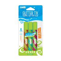 Ragasztó glitter 3 db mix színes