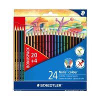 """Farebné ceruzky, šesťhranné, STAEDTLER """"Noris Colour"""", 20+4 rôznych farieb"""