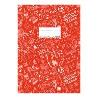 Fedél a notebook Schooldoo A5 piros / 1db