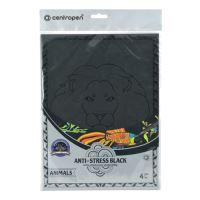 Antistresové omaľovánky CENTROPEN 9997 Animals čierne