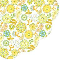 Szalvéta kerek PAW R Floral Patterna orange