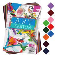 Színes papír blok - rajzlap ART CARTON A4 250g /10db/ vegyes 10 szín