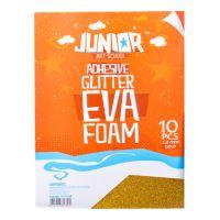 Dekorlap habosított A4 EVA 10 db arany öntapadós glitter 2,0 mm