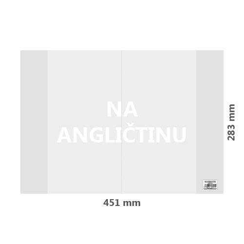 Füzetborító PVC 451x283 mm, vastag/átlátszó, 1 db
