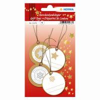 Karácsonyi ajándék címke - 3D arany