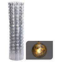 Könnyű lánc 16 LED - ezüst gömb 16x40 mm, 350 cm