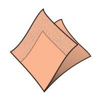 Szalvéta 2-rétegű, 33 x 33 cm barack [50 db]