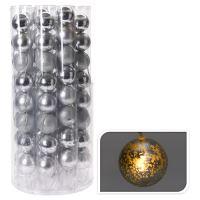 Világító lánc 8 LED - ezüstgömbök 8x70 mm, 230 cm