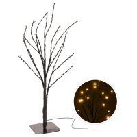 30 cm, 15 LED lámpás fa, meleg fehér