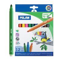Filctoll MILAN 0,5mm - készlet 12db kerek
