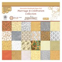 Dekor papír  - 24 lapos, 30x30 cm - Marriage & Celebration Collection