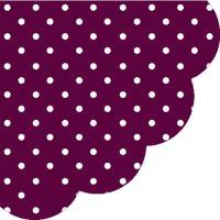 Szalvéta kerek PAW R Dots Dark Violet