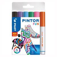 """Dekormarker készlet, 1,4 mm, PILOT """"Pintor Fun  6 különböző divatszín"""