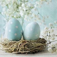 Szalvéta PAW L 33x33cm Turquise Easter