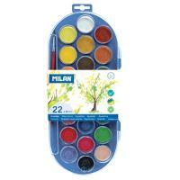 Vízfesték MILAN  - 22 szín, 30mm