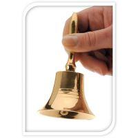 Dekorácia - Zvonček zlatý 11 cm, 1ks