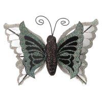 Motýľ na klipe 10 cm - mix farieb, sada 3ks