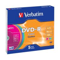 DVD-R Verbatim DataLife Plus 16x, 4,7 GB, 5 csomag