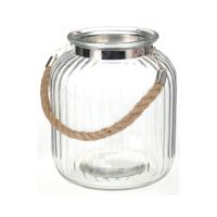 Üveg gyertyatartó - tiszta 18x21 cm, 1db