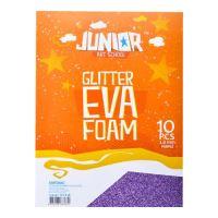 Dekorlap habosított A  EVA 10 db lila vastagsága 2,0 mm glitter