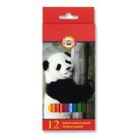 Színes ceruzák KOH-I-NOOR hatszögletű, 12 darab készlet