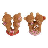 Valentín dekoráció mackók 15 cm