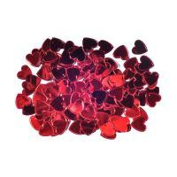 Dekoráció  szivek piros 15 mm/14 g
