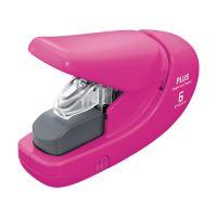 Tűzőgép PLUS Paper Clinch mini 106AB (6 lapot tűz), rózsaszín