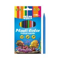 Pasztelceruza Plasti Color Ocean World - készlet 12 db