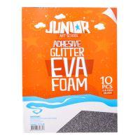 Dekorlap habosított A4 EVA 10 db ezüst öntapadós glitter 2,0 mm