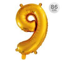 Számlufi szülinapra 86 cm - 9, arany