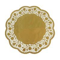 Tortacsipke kerek 33 cm arany /4db csomag/