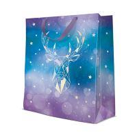 Ajándéktasak PAW Reflex Geometric Deer, large - 26,5x33,5x13 cm