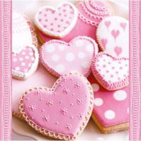 Szalvéta PAW L 33x33cm Heart Cakes