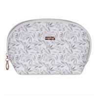 Kozmetická taška White Leaves - guľatá
