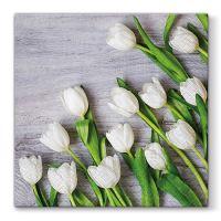 Szalvéta PAW L 33x33cm White Tulips